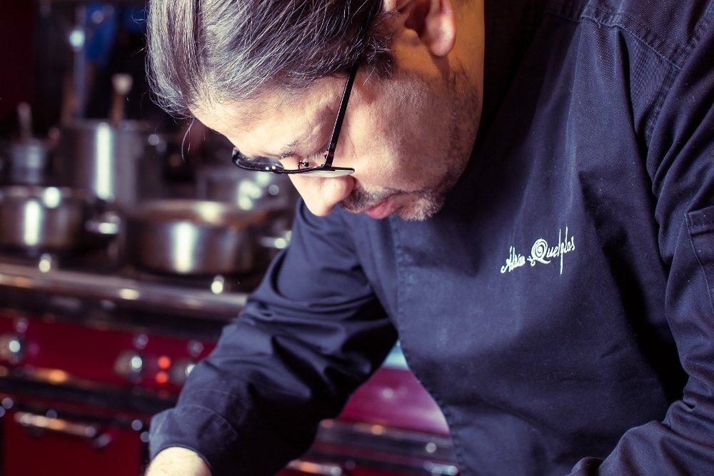Adrián Quetglas en su cocina