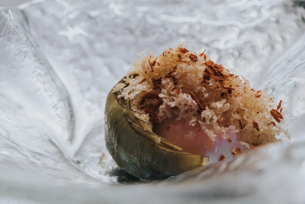 Alcachofas del restaurante canario Qué Leche