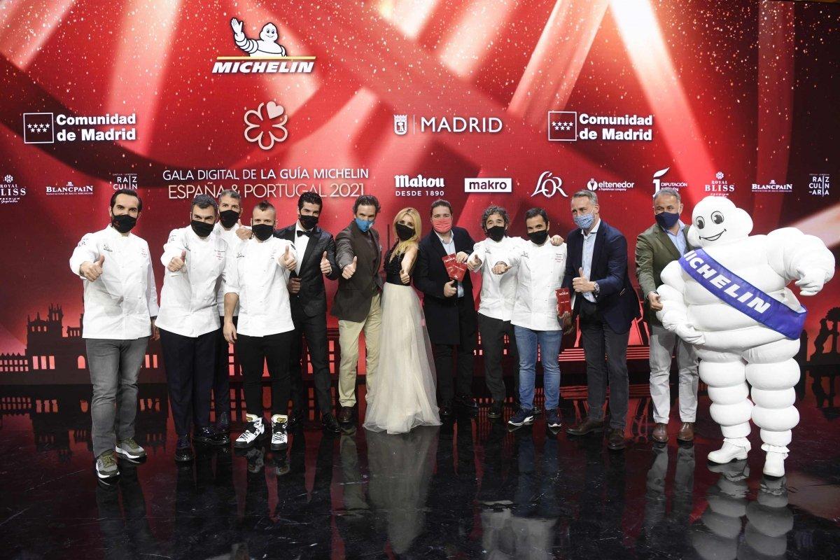 Algunos asistentes a la gala Michelin 2021