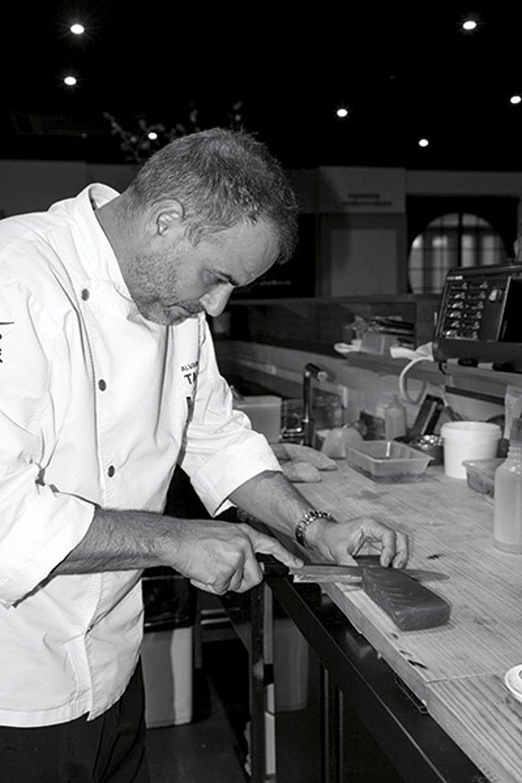 Álvaro Arbeloa en el restaurante Ta Kumi