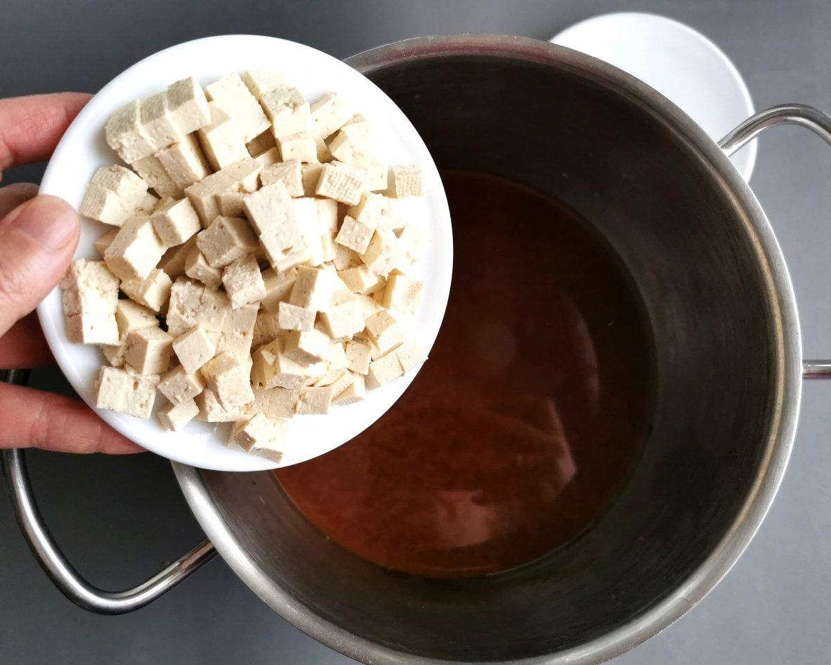 Añadir el tofu