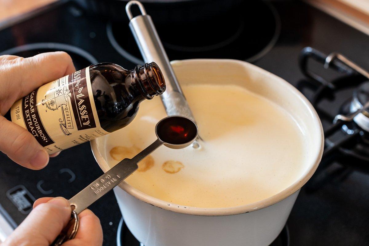 Añadir extracto de vainilla