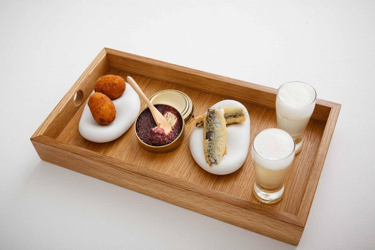 Aperitivos del restaurante Marqués de Riscal