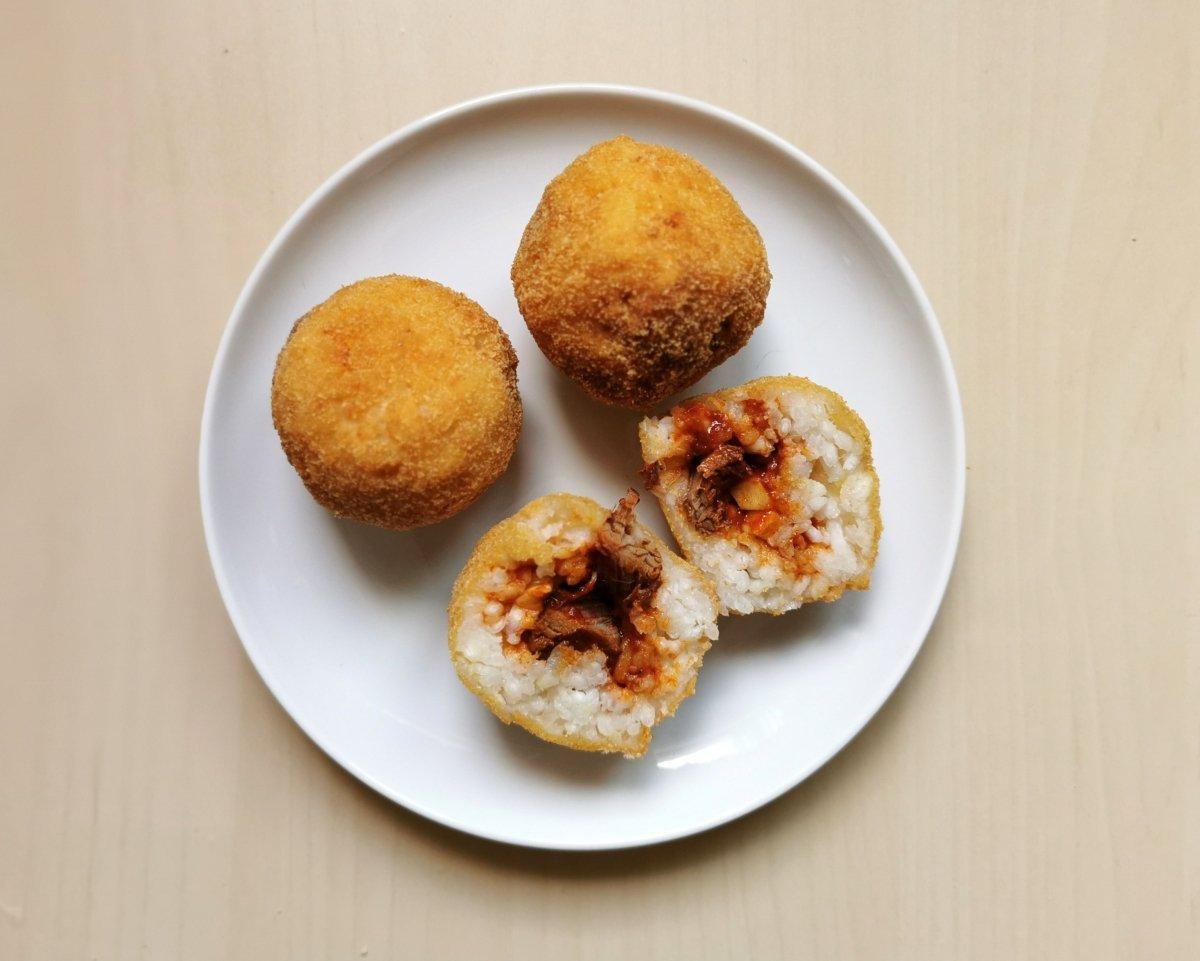 Arancini (croquetas de arroz)