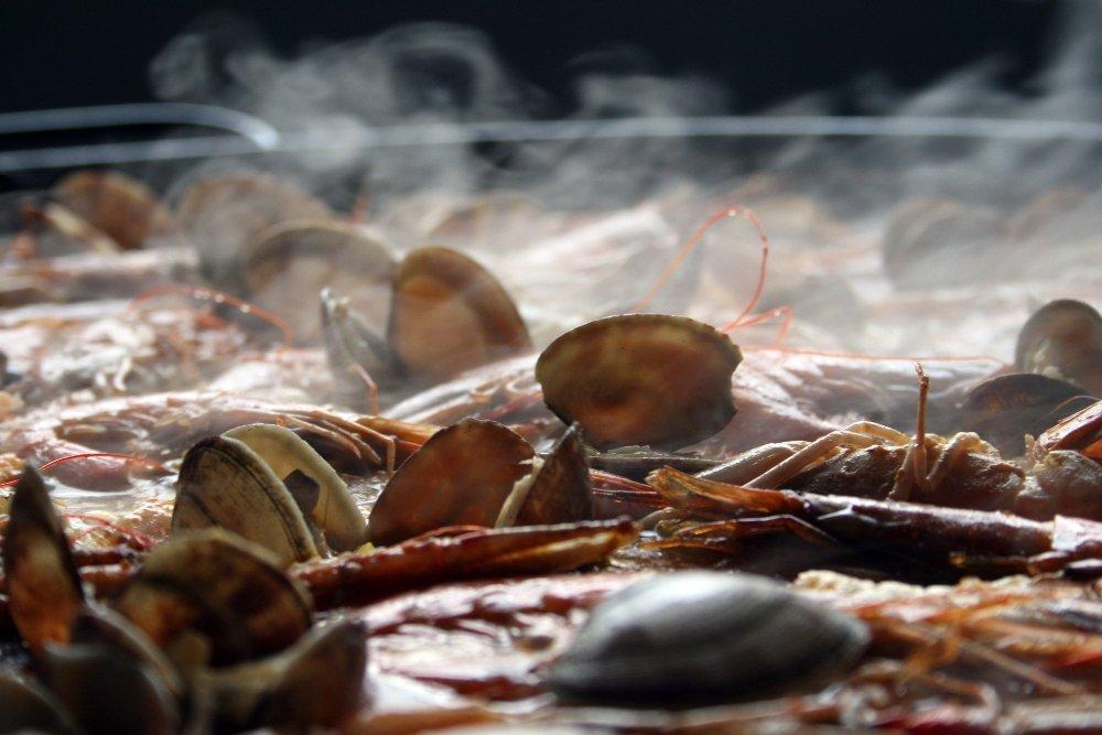Arroz con almejas del restaurante Agua de Mar