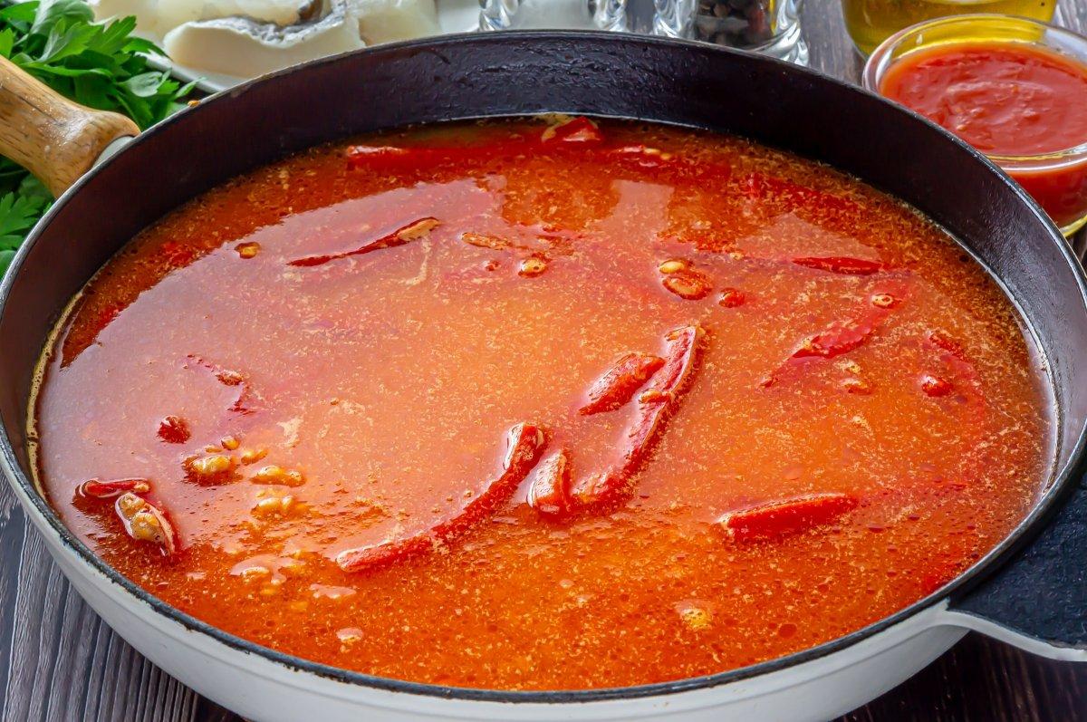 Arroz con bacalao (cocción)