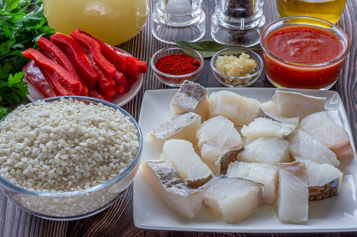 Arroz con bacalao (ingredientes)