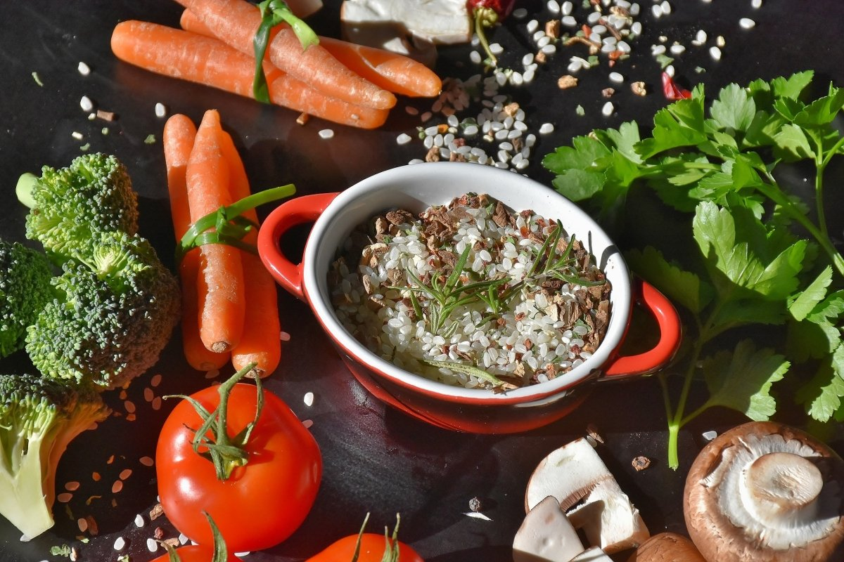 Arroz y vegetales