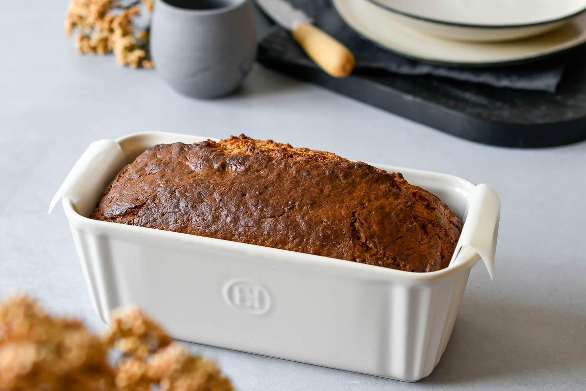 Banana bread horneado en molde