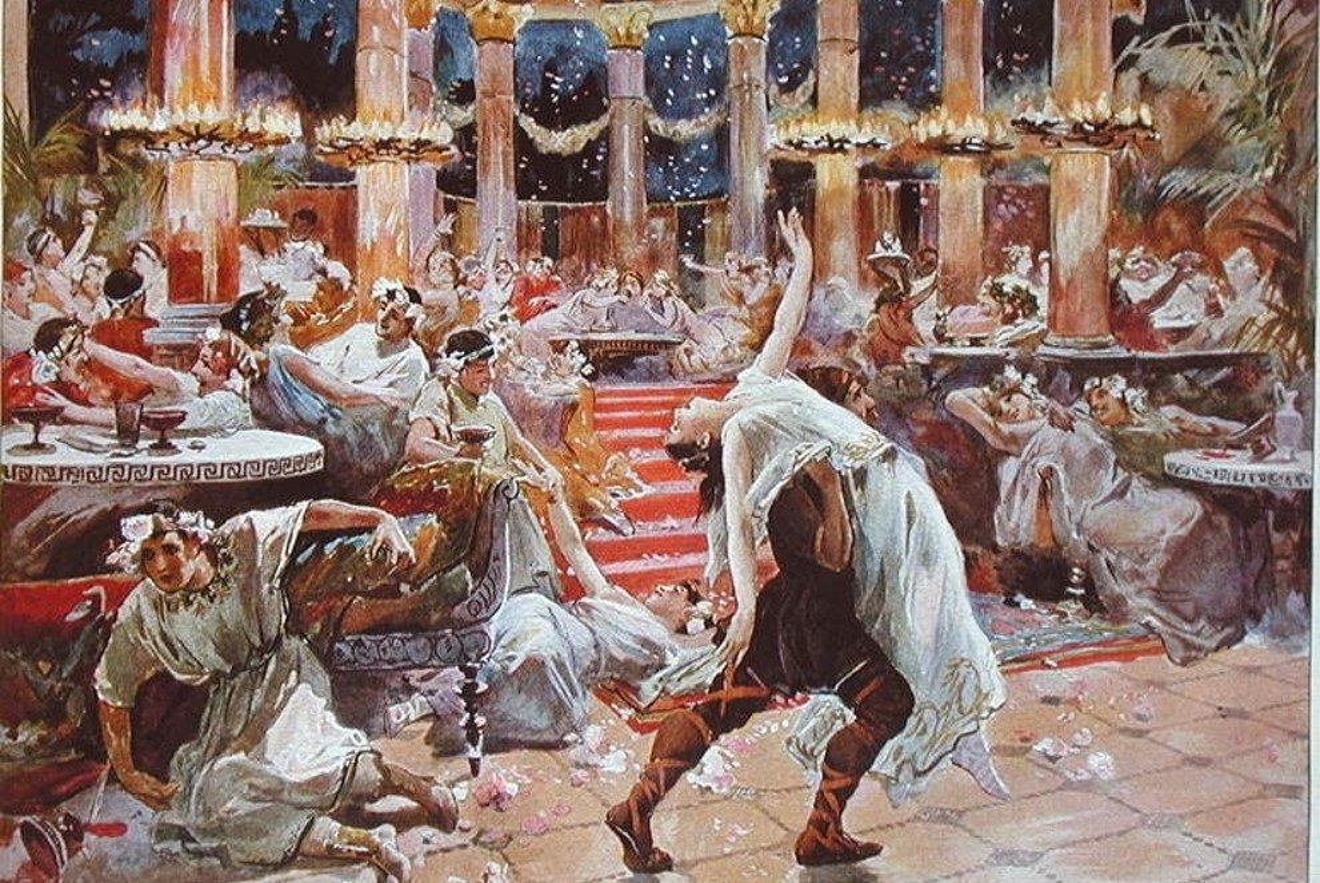 El Satiricón de Petronio, un ejemplo de los banquetes romanos