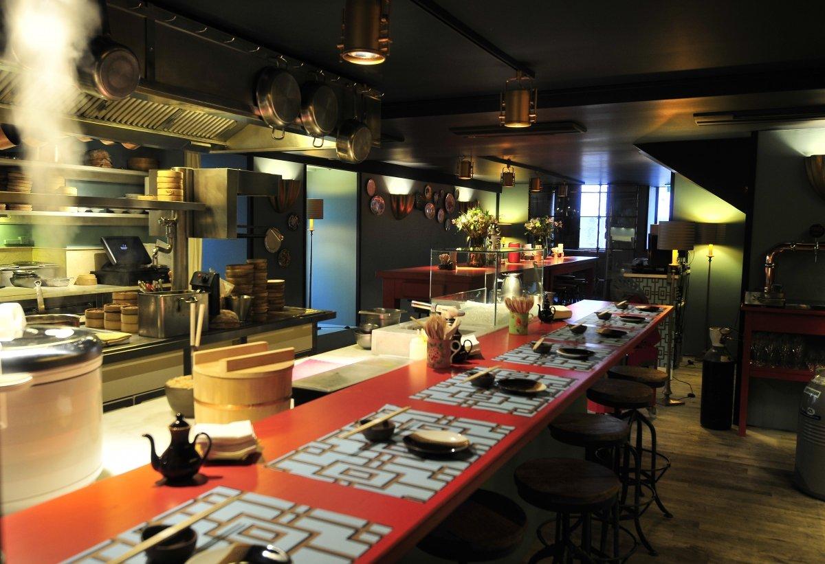 Barra principal del restaurante Casa Marcelo