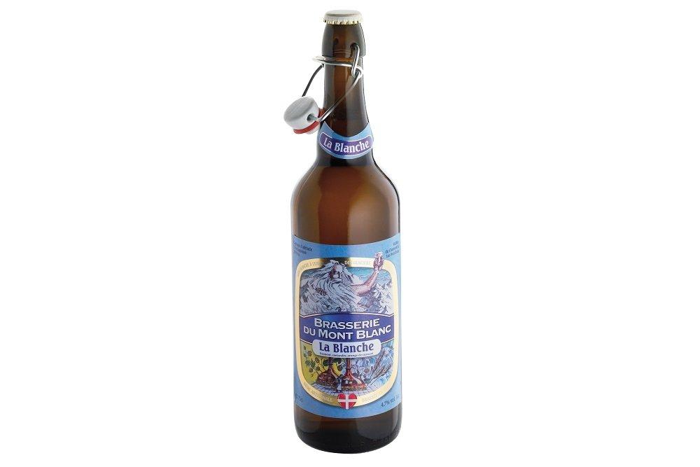 Botella de cerveza La Blanche du Mont Blanc