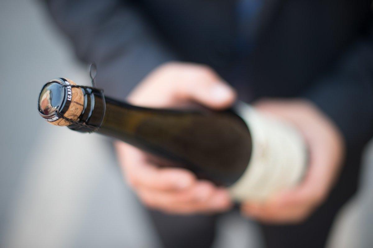 Botella de champán