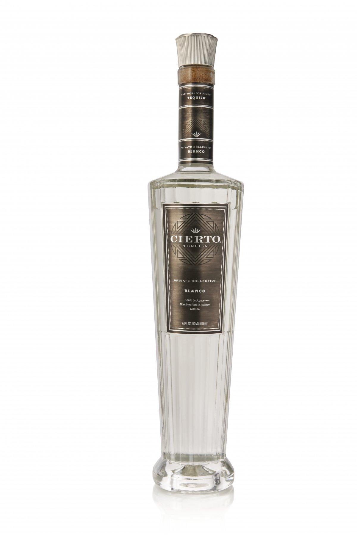 Botella de Cierto Tequila Private Collection Blanco