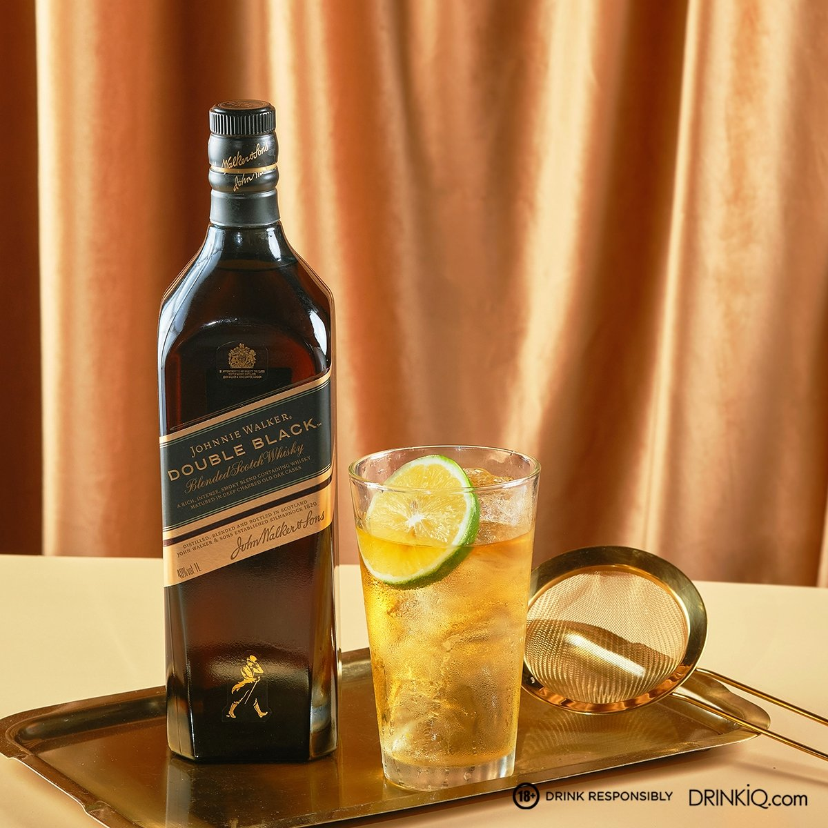 Botella de Double Back Whisky