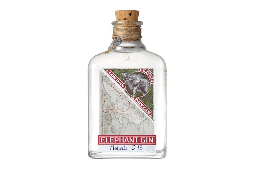Botella de la ginebra Elephant