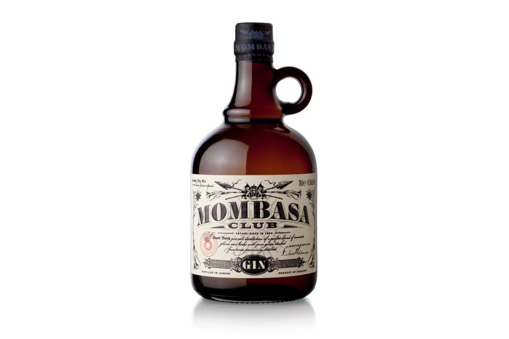 Botella de la ginebra Mombasa Club