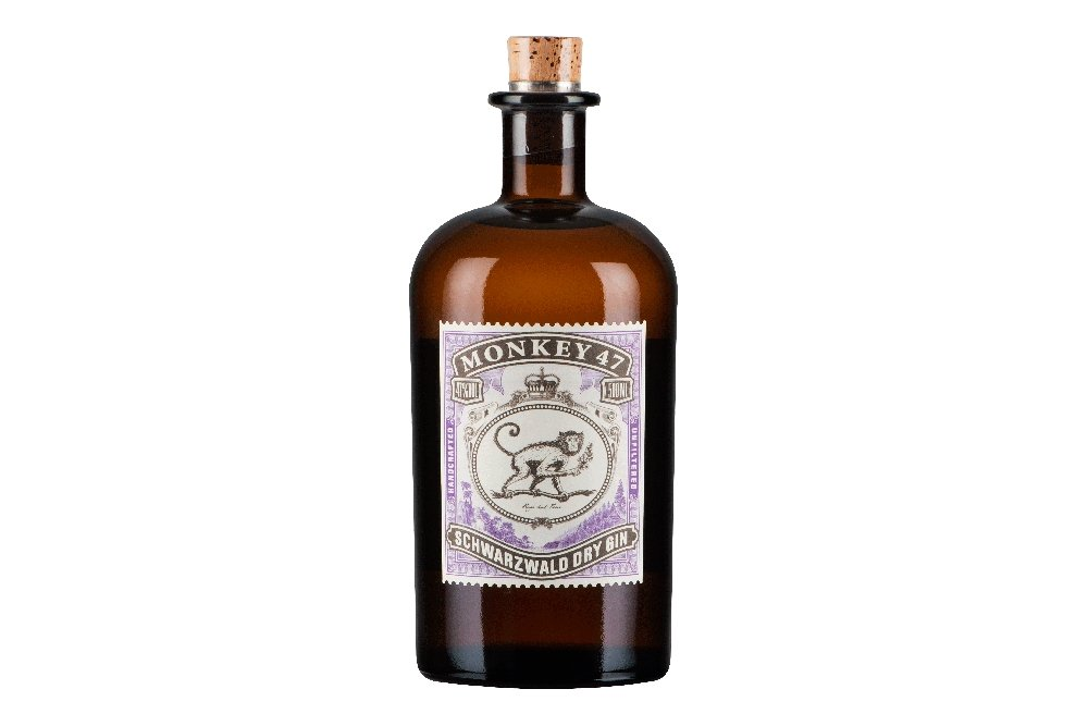 Botella de la ginebra Monkey 47