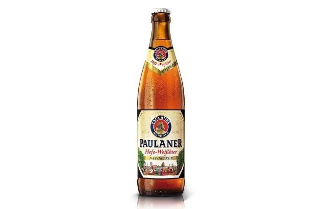 Botella de medio litro de Paulaner Hefe-Weissbier Natutrüb