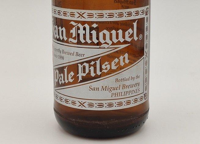Botella de San Miguel elaborada en Filipinas