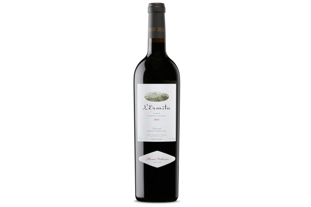 Botella de vino L'Ermita de bodgas Álvaro Palacios