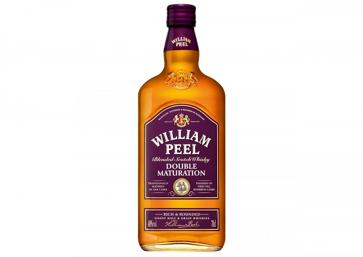 Botella de William Peel Whisky