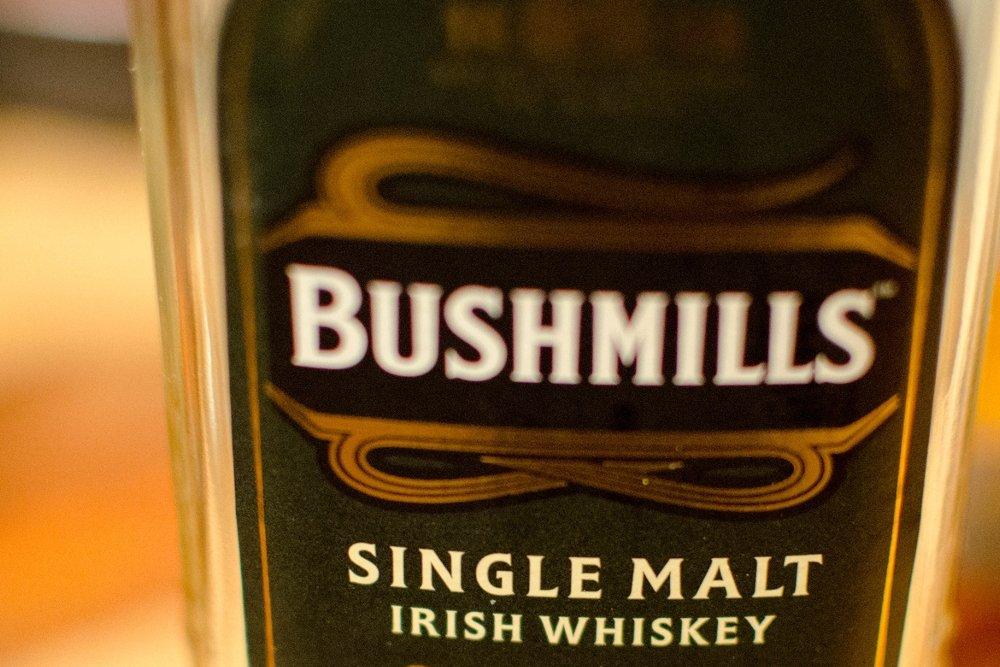 Una botella del Bushmills