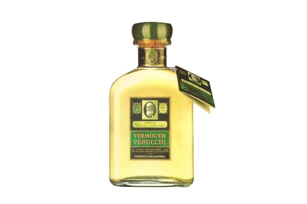 Botella del vermut Perucchi Blanco