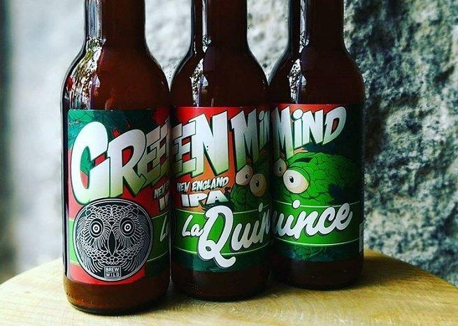 Botellas de La Quince Green Mind IPA