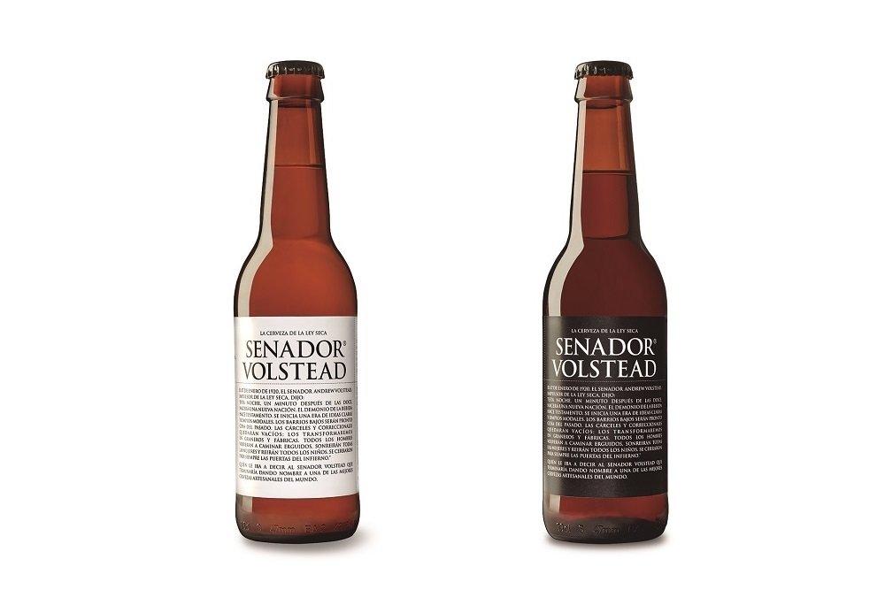 Botellas de Senador Volstead Etiqueta Negra y Etiqueta Blanca