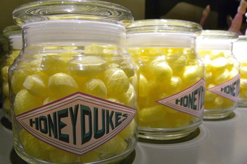 Botes de caramelos de Honeydukes