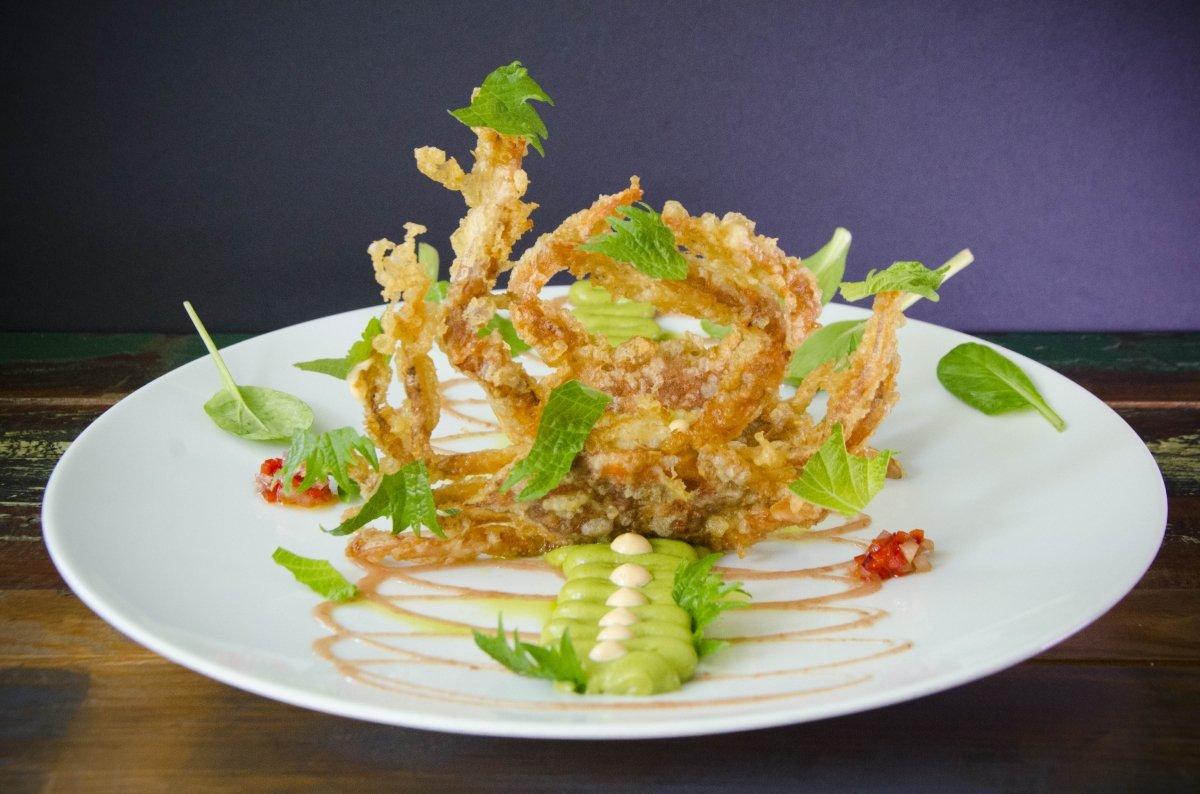 Cangrejitos en tempura en el restaurante Back