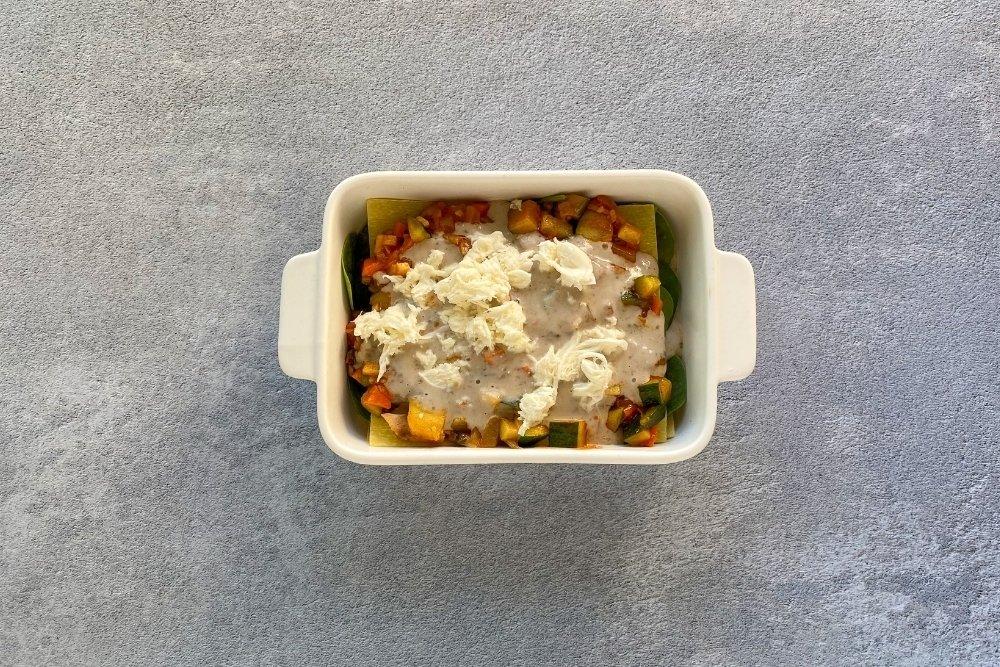 Capa de sofrito de verduras