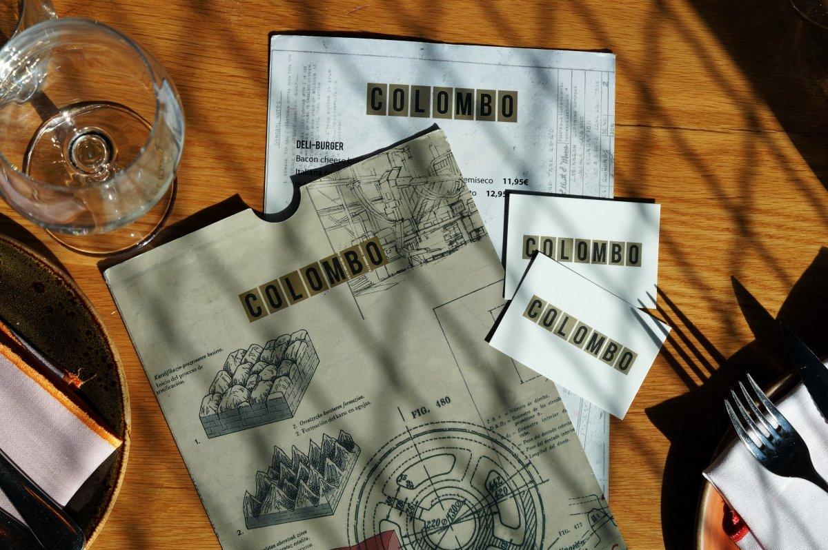Carta del restaurante Colombo de Bilbao