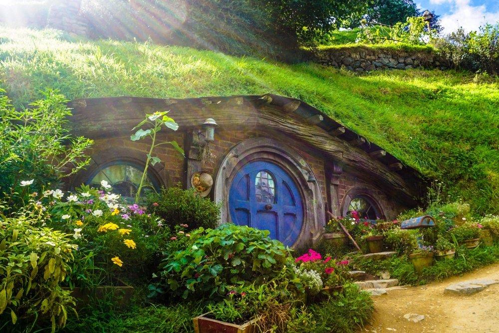 Casa hobbit en Nueva Zelanda