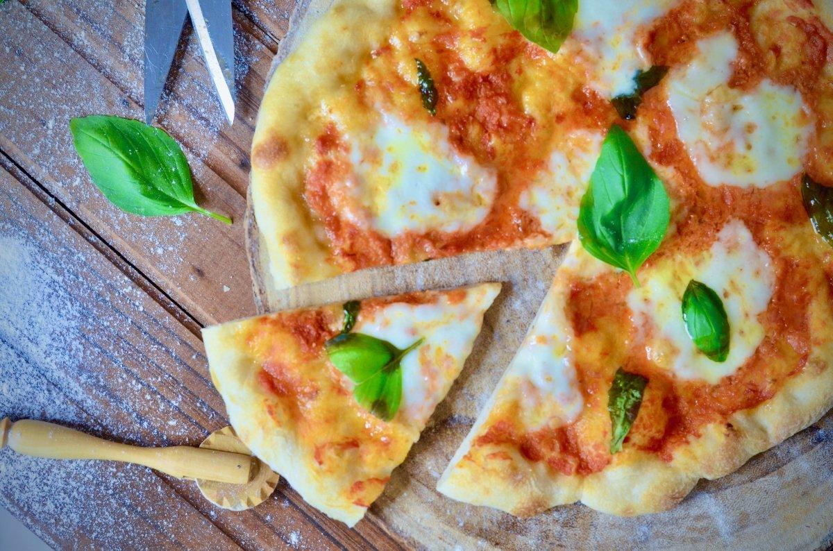 Cenital de pizza margarita