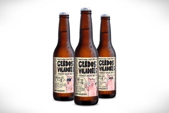 Cerdos voladores, una cerveza 'made in' Barcelona