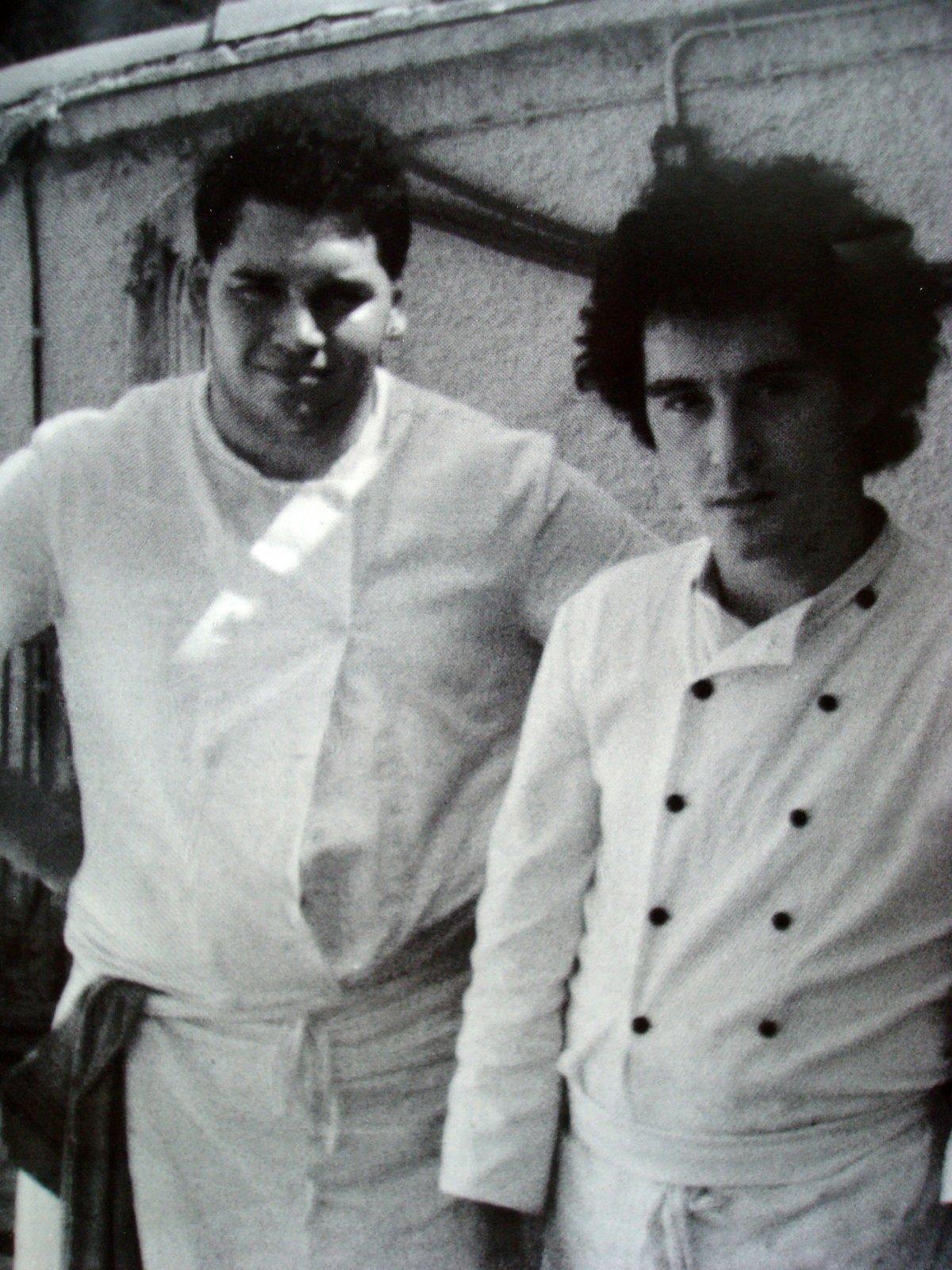Christian Lutaud y Ferran Adrià en 1984