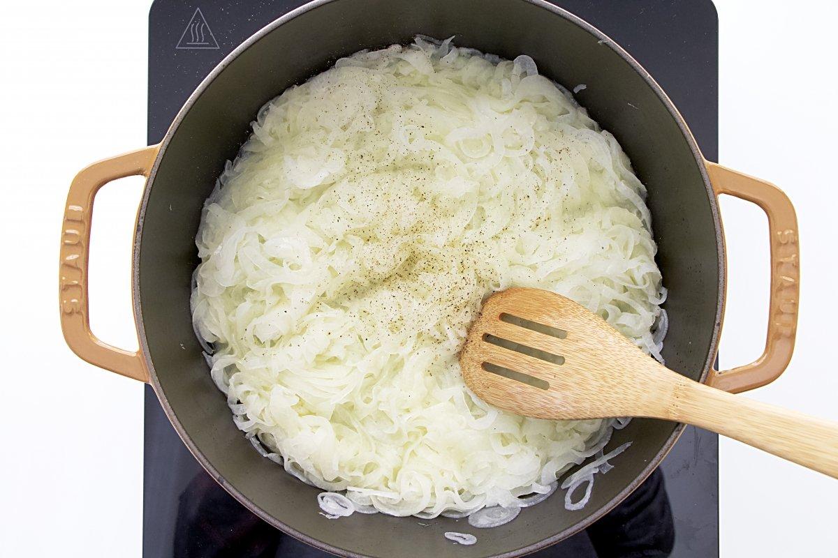 Cocinado de la cebolla