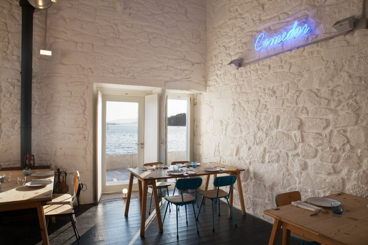 Comedor del restaurante Loxe Mareiro