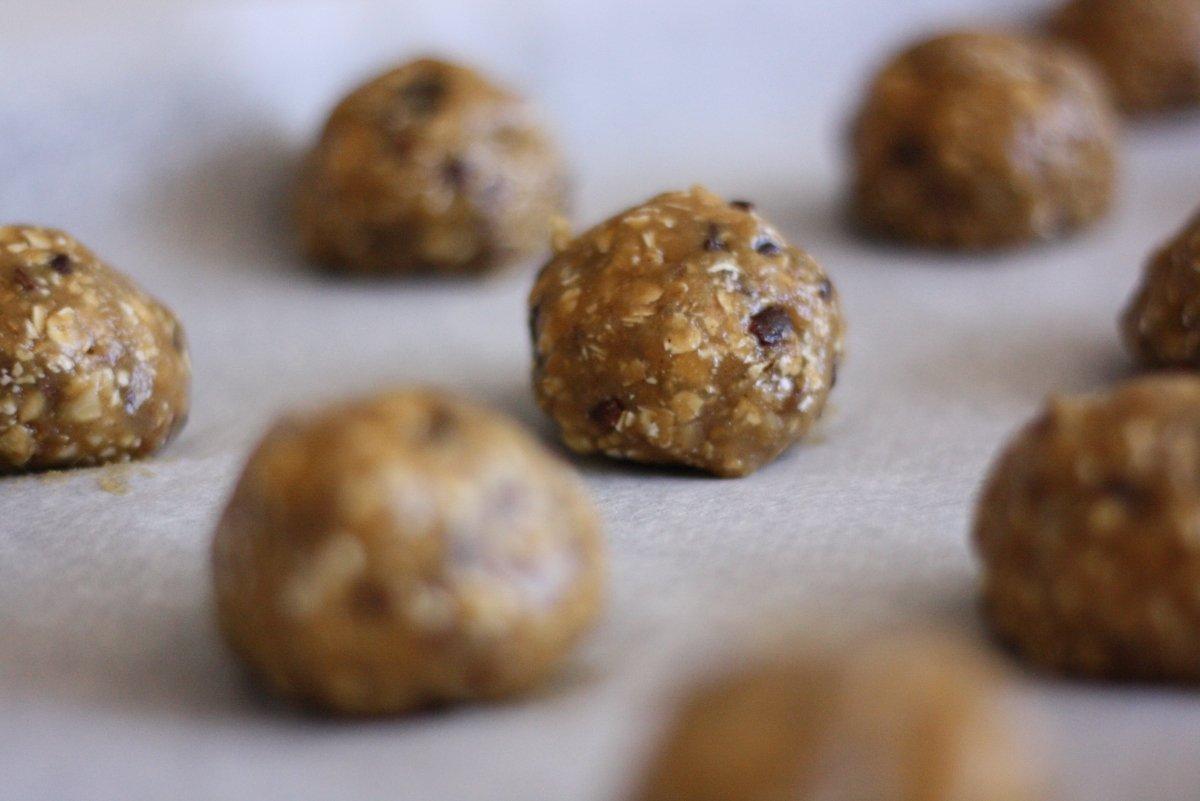 Cookies boleadas para hornear