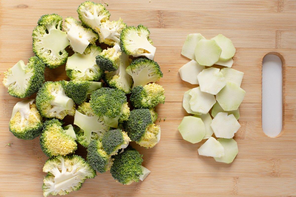Cortar el brócoli