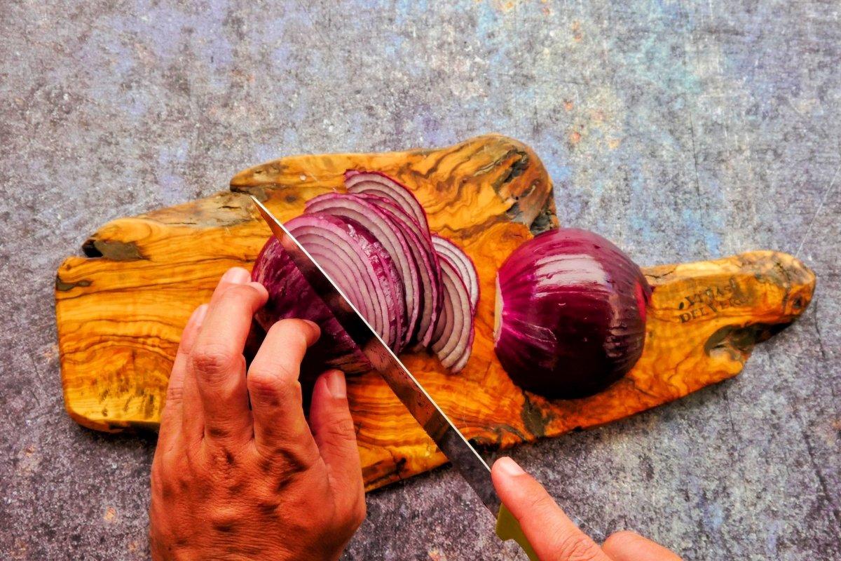 Cortar las cebollas