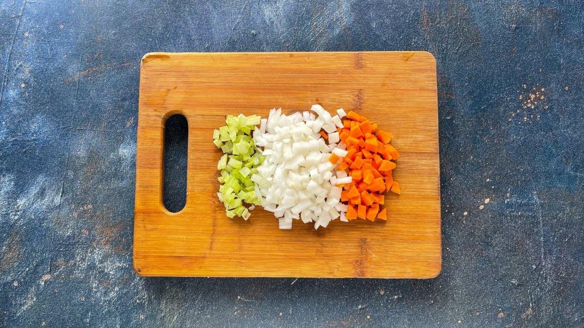 Cortar las verduras en brunoise