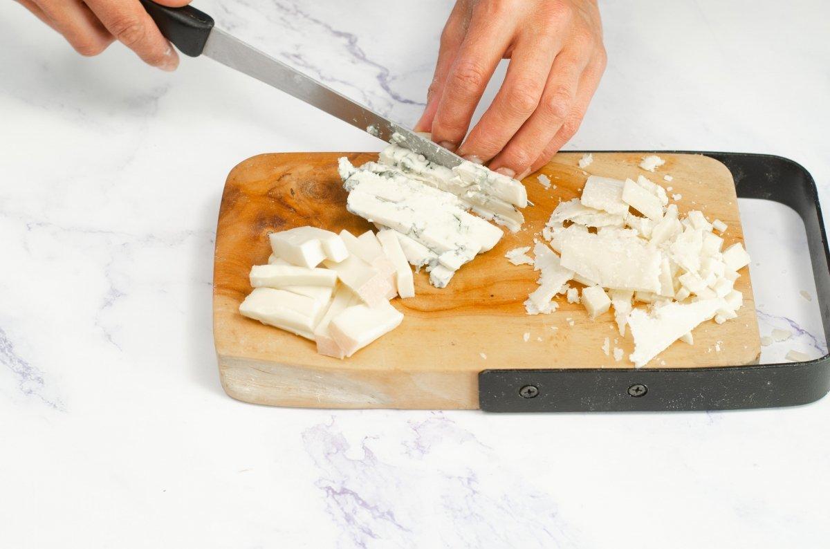 Cortar los quesos