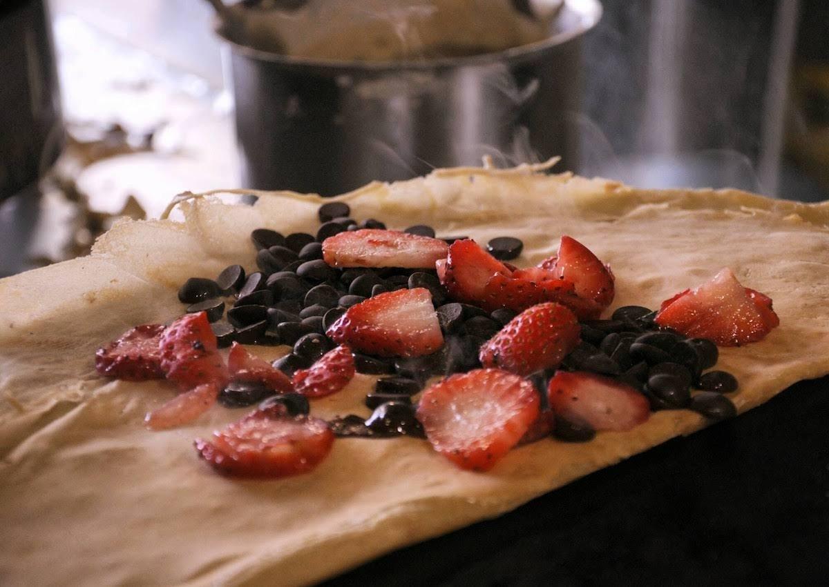 Crepe de fresas y chocolate de Prep' La Crepe