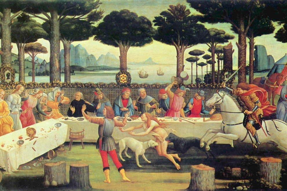 Cuadro de Botticelli sobre el Decamerón