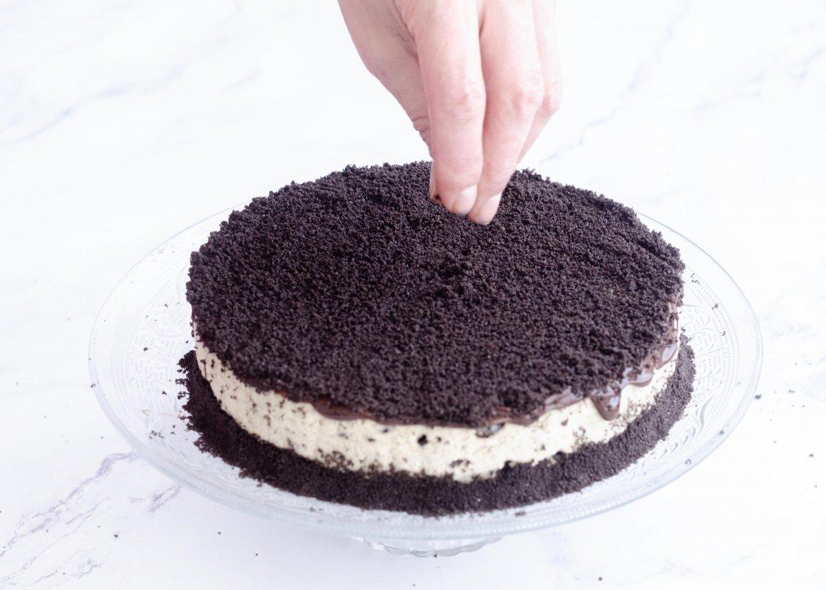 Decorado de la tarta de Oreo