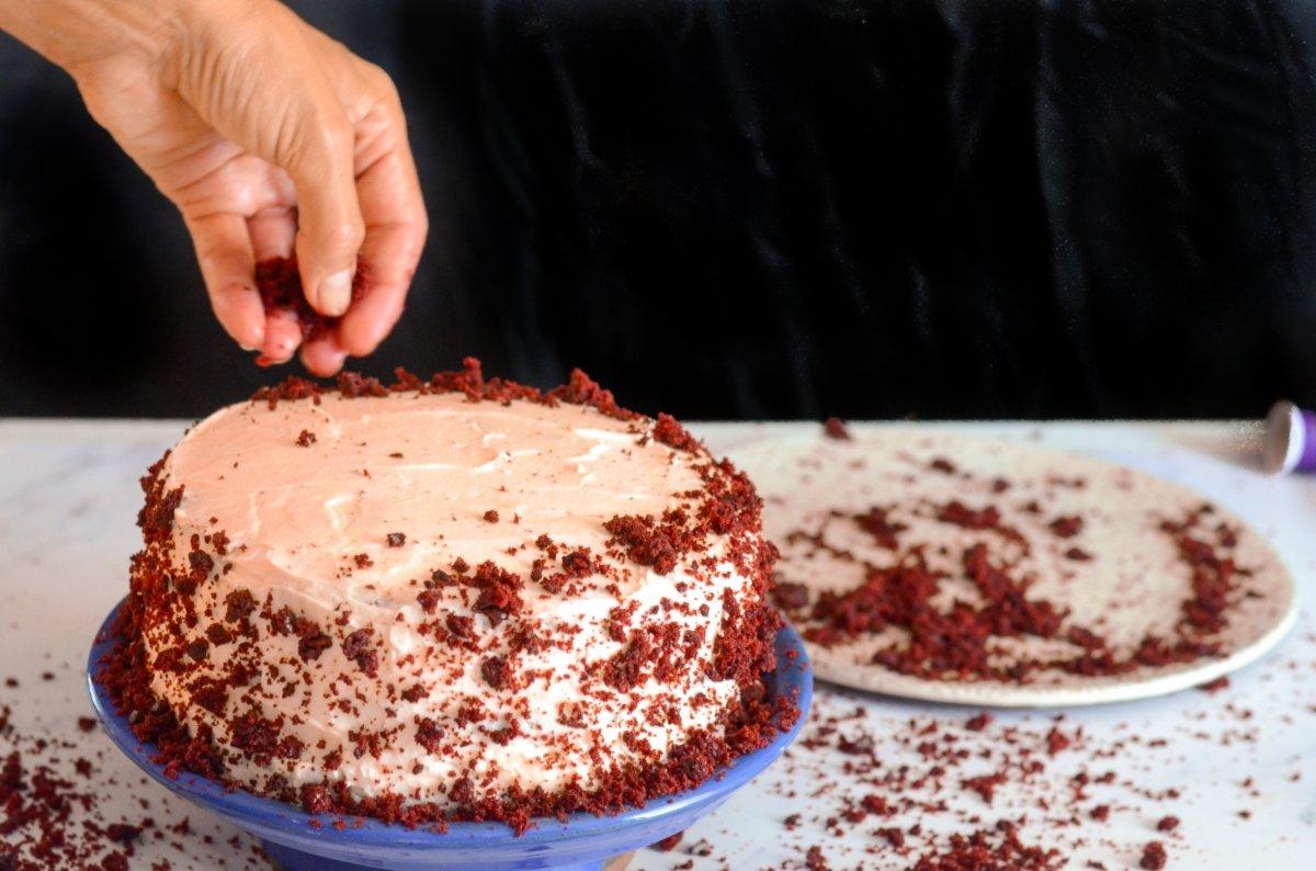 Decorado final de la tarta