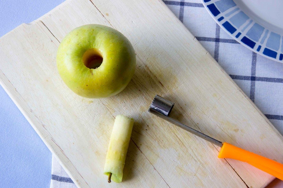 Descorazonar las manzanas